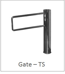 gate turnstile no glass