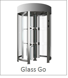 Glass Full Height Turnstile with security locking