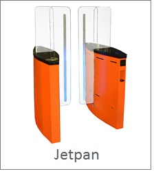 Jetpan glass turnstile with side glass for security