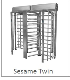 High security turnstile, full height made with robust steel for extended outdoor use