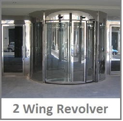 2 wing revolving door blasi