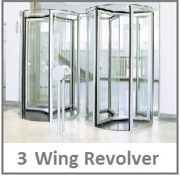 3 wing revolving door blasi