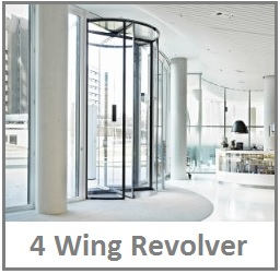 4 wing revolving door blasi